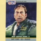 1990 Pro Set Super Bowl MVP's Football #02 Bart Starr - Green Bay Packers