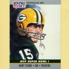 1990 Pro Set Super Bowl MVP's Football #01 Bart Starr - Green Bay Packers