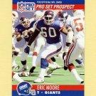 1990 Pro Set Football #744B Eric Moore - New York Giants