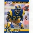 1990 Pro Set Football #718A Pat Terrell RC - Los Angeles Rams