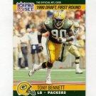 1990 Pro Set Football #686 Tony Bennett RC - Green Bay Packers