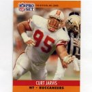 1990 Pro Set Football #657B Curt Jarvis - Tampa Bay Buccaneers