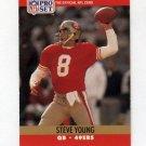 1990 Pro Set Football #645 Steve Young - San Francisco 49ers