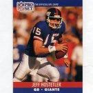1990 Pro Set Football #596 Jeff Hostetler RC - New York Giants