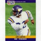 1990 Pro Set Football #571 Cris Carter - Minnesota Vikings