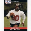 1990 Pro Set Football #434 Andre Rison - Atlanta Falcons