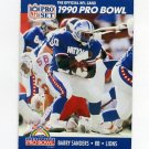 1990 Pro Set Football #413 Barry Sanders - Detroit Lions