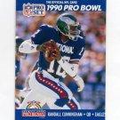 1990 Pro Set Football #386A Randall Cunningham - Philadelphia Eagles