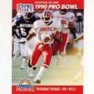 1990 Pro Set Football #374 Thurman Thomas - Buffalo Bills