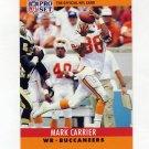 1990 Pro Set Football #309 Mark Carrier - Tampa Bay Buccaneers