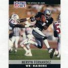 1990 Pro Set Football #152A Mervyn Fernandez - Los Angeles Raiders