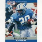 1990 Pro Set Football #102 Barry Sanders - Detroit Lions