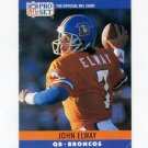 1990 Pro Set Football #088 John Elway - Denver Broncos Vg