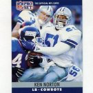1990 Pro Set Football #084 Ken Norton Jr. RC - Dallas Cowboys