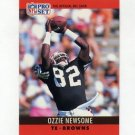 1990 Pro Set Football #075B Ozzie Newsome - Cleveland Browns