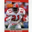 1990 Pro Set Football #036 Deion Sanders - Atlanta Falcons