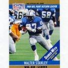 1990 Pro Set Football #015A Walter Stanley - Detroit Lions