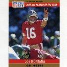 1990 Pro Set Football #002A Joe Montana - San Francisco 49ers