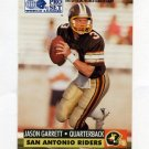 1991 Pro Set Football WLAF Inserts #31 Jason Garrett - San Antonio Riders Ex