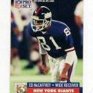 1991 Pro Set Football #812 Ed Caffrey RC - New York Giants