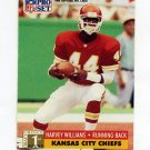 1991 Pro Set Football #750 Harvey Williams RC - Kansas City Chiefs