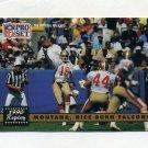 1991 Pro Set Football #329 Jerry Rice / Joe Montana - San Francisco 49ers ExMt