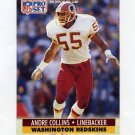 1991 Pro Set Football #318A Andre Collins - Washington Redskins