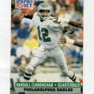 1991 Pro Set Football #256 Randall Cunningham - Philadelphia Eagles
