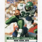 1991 Pro Set Football #250A Blair Thomas - New York Jets