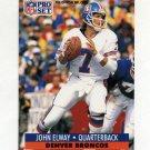 1991 Pro Set Football #138 John Elway - Denver Broncos