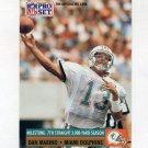 1991 Pro Set Football #025 Dan Marino - Miami Dolphins