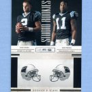 2010 Rookies and Stars Football Studio Rookies Combos #03 Jimmy Clausen / Brandon LaFell - Panthers
