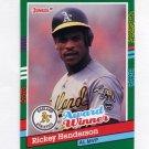 1991 Donruss Baseball #761 Rickey Henderson - Oakland A's