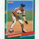 1991 Donruss Baseball #690 Luis Gonzalez RC - Houston Astros