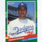1991 Donruss Baseball #669 Darren Holmes RC - Los Angeles Dodgers