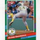 1991 Donruss Baseball #648 Rickey Henderson - Oakland A's