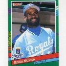 1991 Donruss Baseball #575 Brian McRae RC - Kansas City Royals