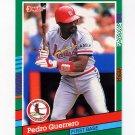 1991 Donruss Baseball #558 Pedro Guerrero - St. Louis Cardinals