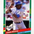1991 Donruss Baseball #502 Eddie Murray - Los Angeles Dodgers