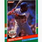 1991 Donruss Baseball #490 Kirby Puckett - Minnesota Twins