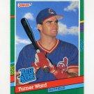 1991 Donruss Baseball #429 Turner Ward RR RC - Cleveland Indians
