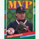 1991 Donruss Baseball #395 Roger Clemens MVP - Boston Red Sox