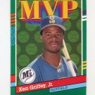 1991 Donruss Baseball #392 Ken Griffey Jr. MVP - Seattle Mariners