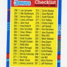 1991 Donruss Baseball #386 Checklist 256-331