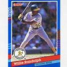 1991 Donruss Baseball #217 Willie Randolph - Oakland A's