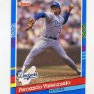 1991 Donruss Baseball #127 Fernando Valenzuela - Los Angeles Dodgers