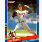 1991 Donruss Baseball #078 Jim Abbott - California Angels