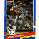 1991 Donruss Baseball #056 Mark McGwire AS - Oakland A's