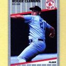 1989 Fleer Baseball #085 Roger Clemens - Boston Red Sox Ex