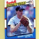 1987 Fleer Exciting Stars Baseball #11 Roger Clemens - Boston Red Sox